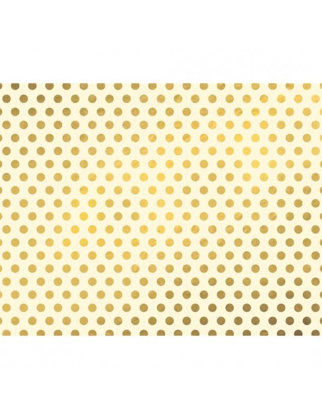 "We R Memory Keepers - Gold Foil Dots Posterboard 22""x28"""