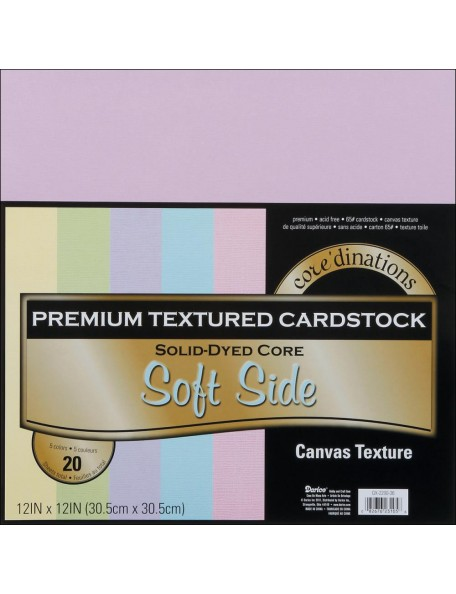 "Core´dinations - Soft Side - Canvas Cardstock 12""x12"""