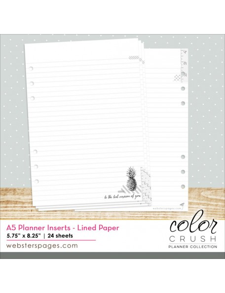 Webster´s Pages - Color Crush A5 Personal Planner Hojas Lineadas