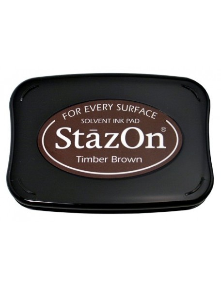 StazOn Solvent Ink Pad, Timber Brown