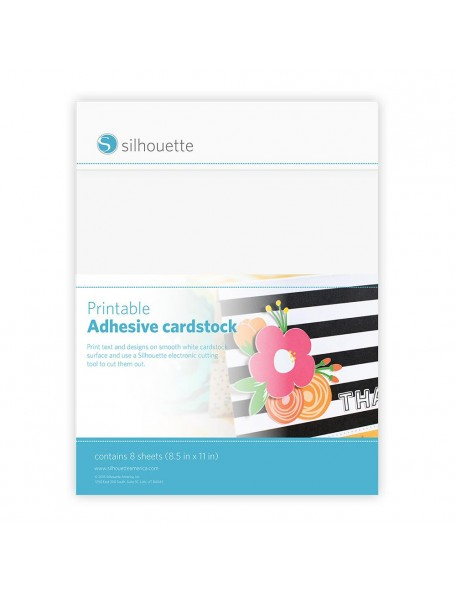"""Silhouette Cardstock Adhesivo Imprimir 8,5""""x11"""""""
