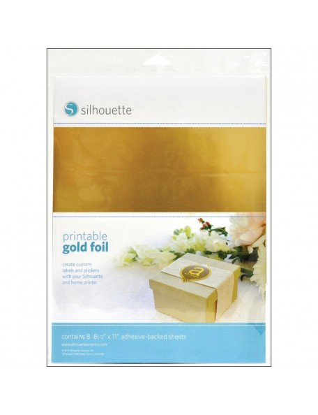 Silhouette Lamina metalica dorada para impresion