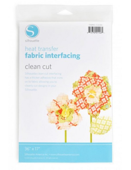 Silhouette Fabric interfacing Heat Transfer Clean Cut