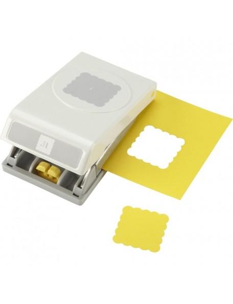 """Ek Tools Troqueladora para hacer cuadrados en forma de Scallop de 1.5"""""""