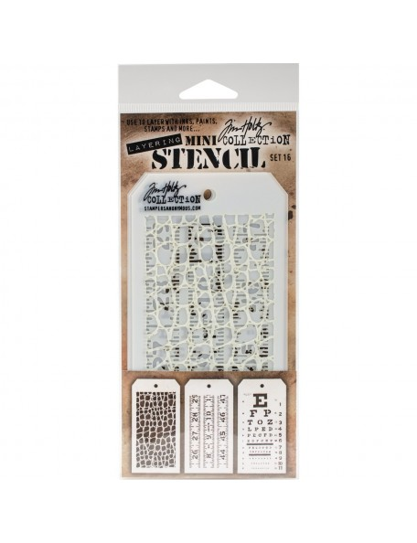Tim Holtz Mini Layered Stencil Set 3 Set 16