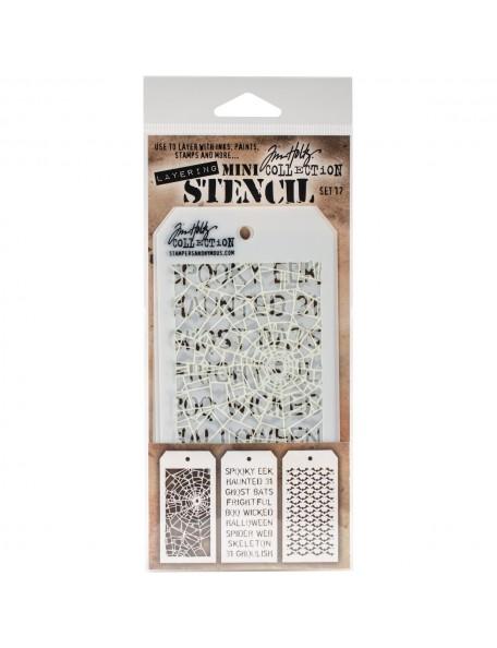 Tim Holtz Mini Layered Stencil Set 3 - Set 17