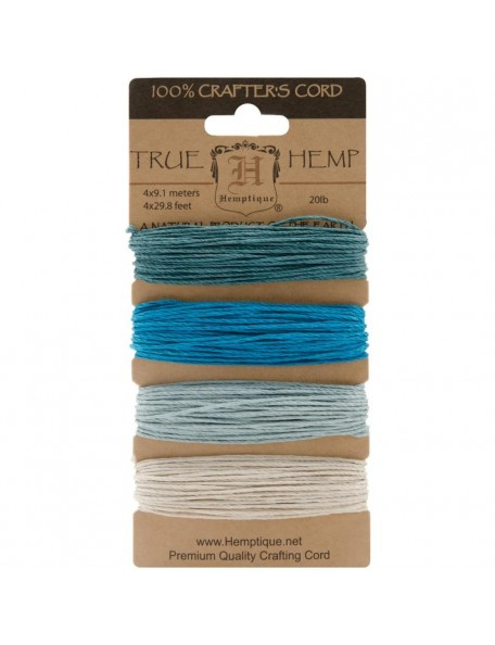 Hemptique Hemp Cord 20lb 120' Aquamarine