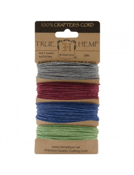 Hemptique Hemp Cord 20lb 120' Earthy Pastel