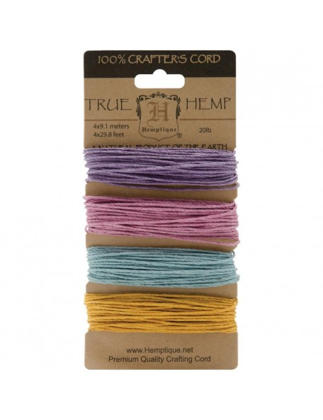 Hemptique Hemp Cord 20lb 120' Pastel