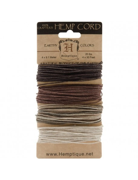 Hemptique Hemp Cord 20lb 120' Earthy