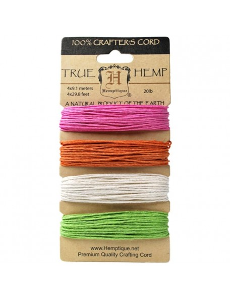 Hemptique Hemp Cord 20lb 120' Sizzle