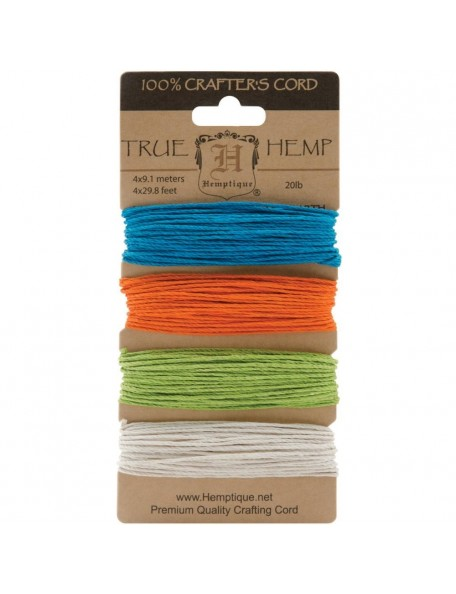 Hemptique Hemp Cord 20lb 120' Bright