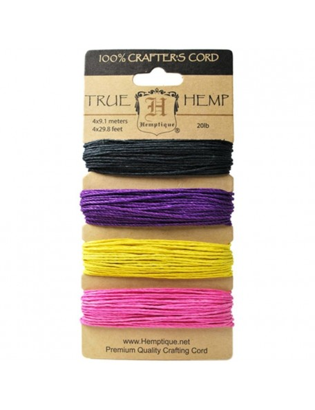Hemptique Hemp Cord 20lb 120' Flirt