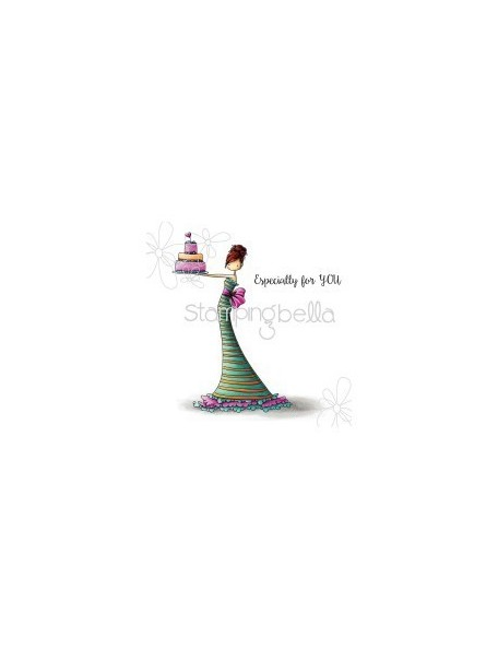 "Stamping Bella Cling Stamp 6.5""X4.5"" Brittany The Birthday Girl"