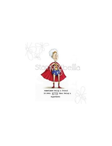 "Stamping Bella Cling Stamp 6.5""X4.5"" Senior-Ita Gladys The Superhero"