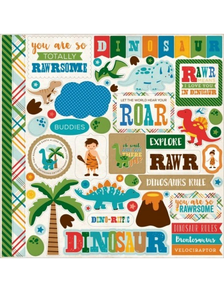 Echo Park Paper Dino Friends Element Stickers