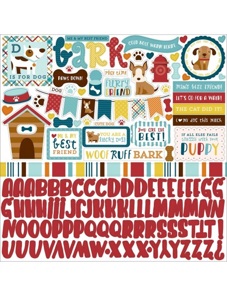 Echo Park - Bark Dog Element Stickers