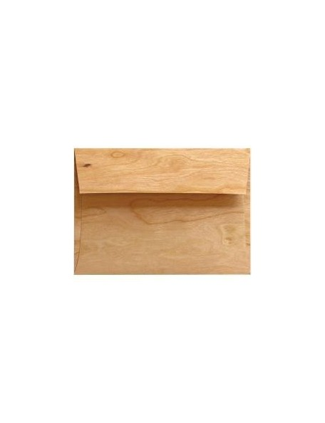 "Arc Crafts - Barc Wood Veneer 4Bar Envelopes 3.625""X5.125"" 5 Cherry Wood"