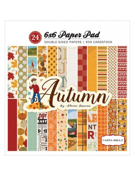 "Carta Bella - Autumn Double-Sided Paper Pad 6""X6"" 24 12 Designs/2 Each"