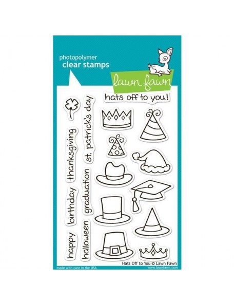 "Lawn Fawn Hats Off To Your Clear Stamps 4""X6"""