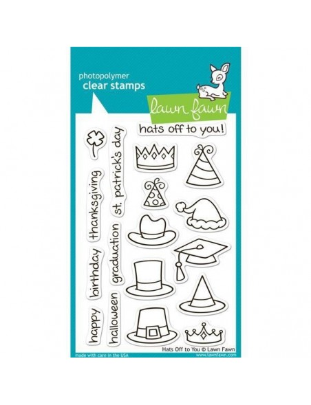 "Lawn Fawn - Hats Off To Your Clear Stamps 4""X6"""