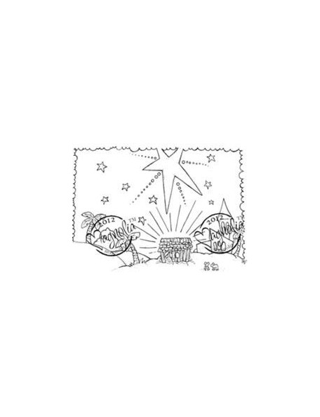 "Magnolia Nativity Cling Stamp 4""X6.5"" Package-Nativity Background"