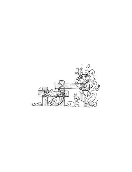 "Magnolia Nativity Cling Stamp 6.5""X3.5"" Package-Nativity Fence"