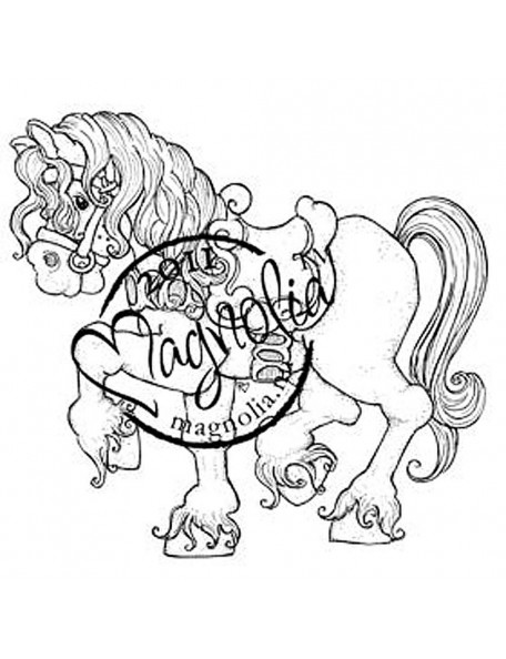"Magnolia Princes & Princesses Cling Stamp 6.5""X3.5"", Tilda'S Princess Horse"