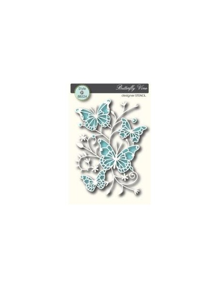 Memory Box - Butterfly Vine Plantilla
