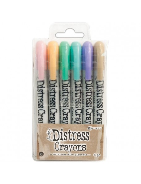 Tim Holtz Distress Crayon Set No. 5