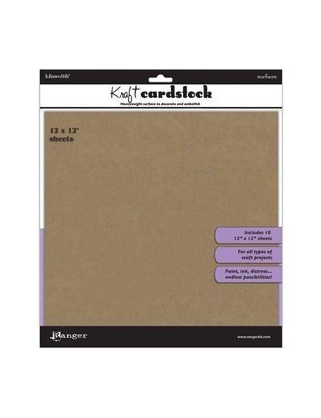 """Inkssentials Cardstock Kraft 12""""X12"""""""
