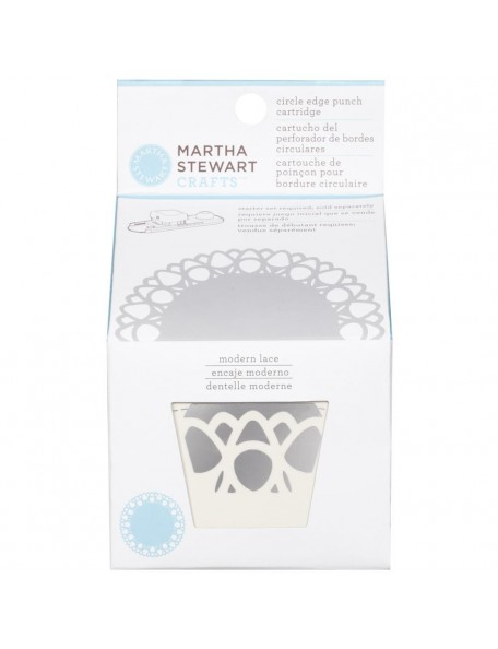 Martha Stewart Circle Border Cartridge Modern Lace. Necesita el Circle Border Set 42-93001 (Cod. 015586959413)