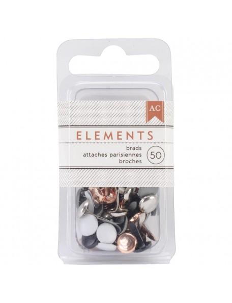 "Elements Brads .1875"" 50/Pkg"