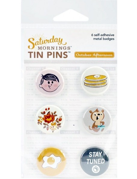 October Afternoon Saturday Mornings Tin Pins