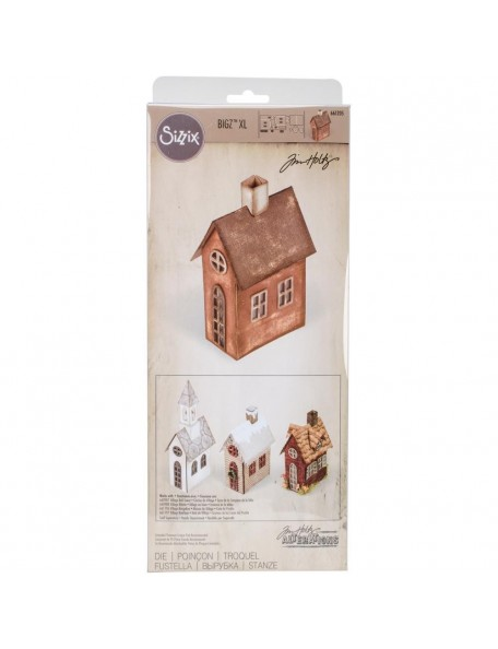 "Tim Holtz Sizzix Bigz Xl Die 6""X13.75"" Village Brownstone"