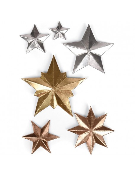 Sizzix Thinlits Dies 6 By Tim Holtz, Estrelld Dimensional Stars