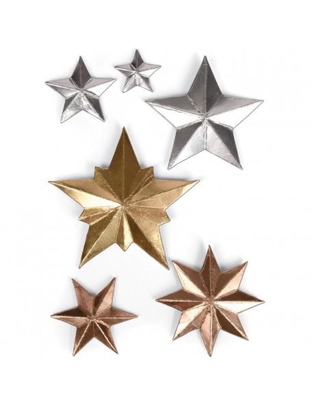 Sizzix Thinlits Troquel/Dies 6 By Tim Holtz, Estrellas Dimensional Stars