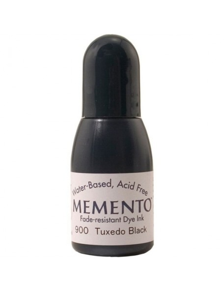 Memento Tuxedo Black Dye Ink Refill 0.5oz