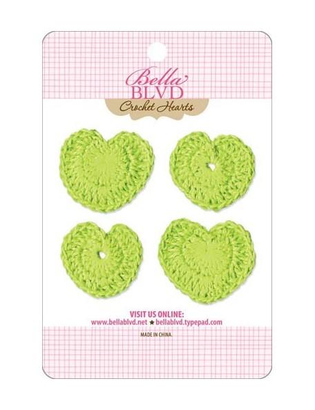 Bella BLVD Pickle Juice Corazones Adornos de Ganchillo