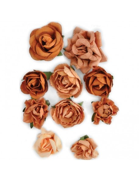 "Kaisercraft Terra Cotta Blooms 1"" - 1.5"" 10"