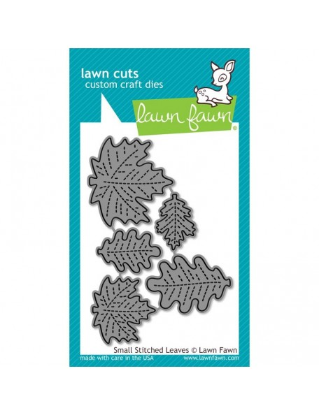Lawn Fawn Small Stitched Leaves Troquel
