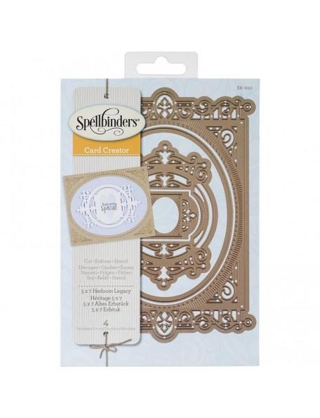 """Spellbinders - Herloom Legacy Nestabilities 5""""X7"""" Card Creator Troquel"""