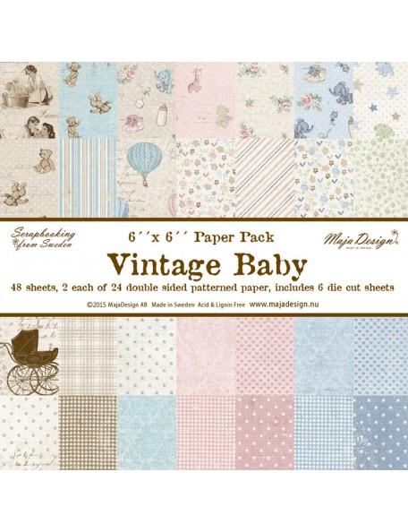 "Maja Design - Vintage Baby Paper Pack 6""x6"""