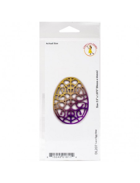 "Cheery Lynn Designs Doily Die Lace Egg 1, 2.5""X1.875"""
