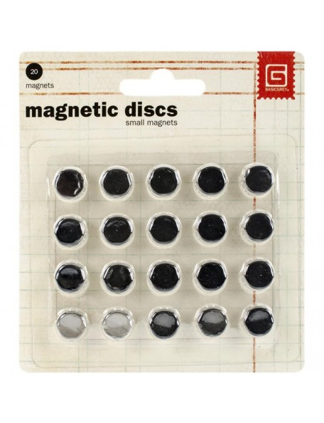"Basic Grey Discos Magneticos pequeños 3/8""X1/32"""
