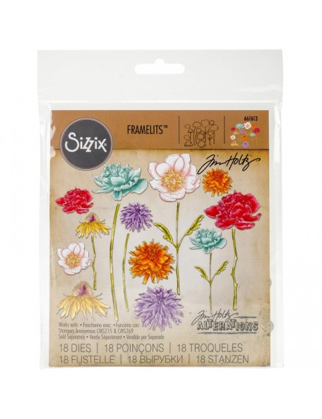 Sizzix - Flower Garden & Mini Bouquet Framelites Tim Holtz