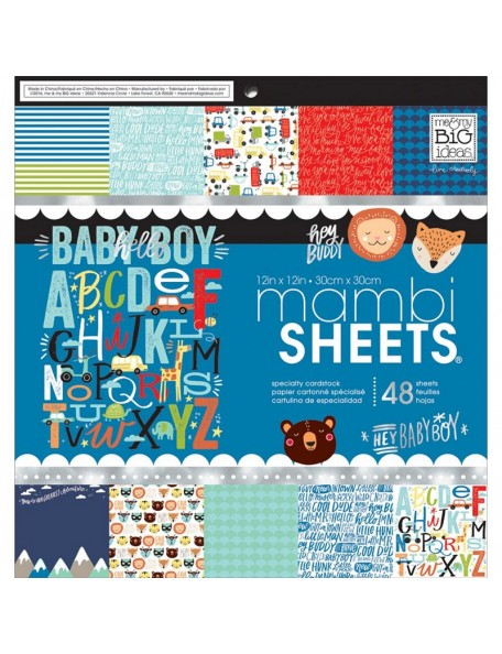 "Me & My Big Ideas - Baby Boy Dreams Paper Pad 12""x12"" Cardstock de una cara"