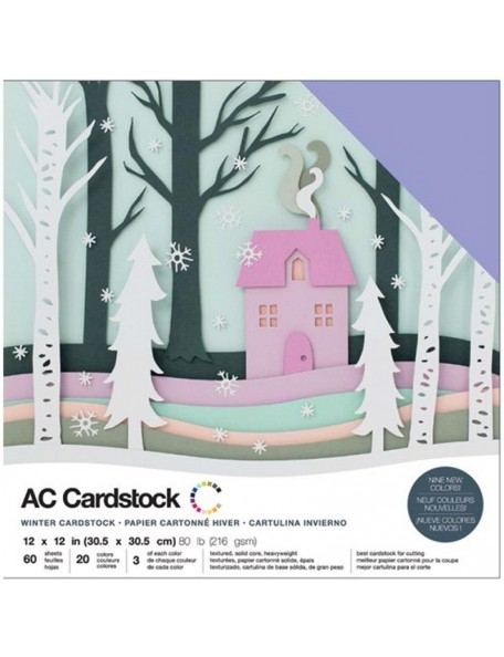 """American Crafts Winter Variendad de Cardstock Pack 12""""x12"""""""