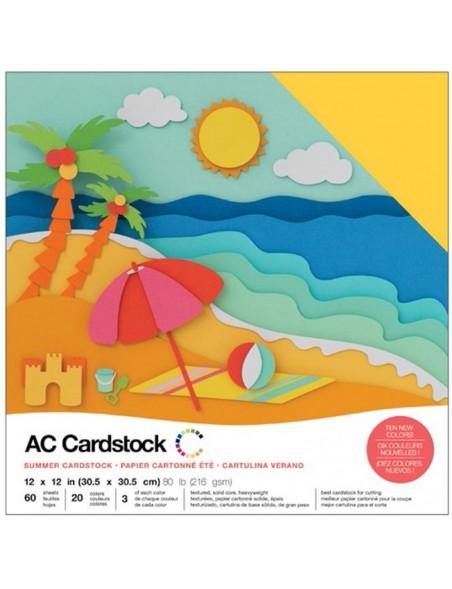 """American Crafts Summer Variedad de Cardstock 12""""x12"""""""