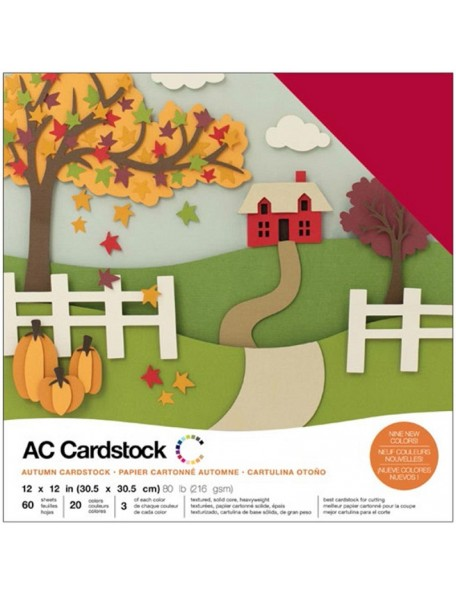 "American Crafts - Autumn Variedad de Cardstock 12""x12"""